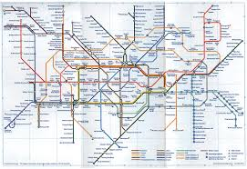 Underground Map Map Graphical Approach London The Underground Railway