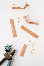 diy kitchen cabinet handles push and pull how to make leather drawer pulls paper and