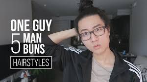 man bun mens long hairstyle tutorial youtube