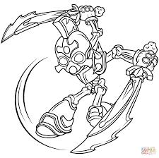 skylanders giants chop chop coloring page free printable