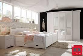 Schlafzimmer Bett Mit Matratze Landhausstil Schlafzimmer Komplett Cinderella Front Massiv W02