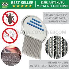 Sisir Kutu jual sisir kutu rambut metal anti lice comb sisir serit terbaik