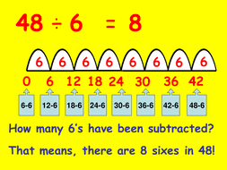 division repeated subtraction and chunking by mo123 teaching