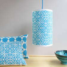 Moroccan Tile by Moroccan Tile Long Drum Lampshade By Helen Rawlinson