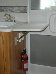 sink covers for more counter space add counter space with a handy fold down counter top rv travel