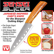 stay sharp kitchen knives sensei slicer japanese inspired chef s knife from collections etc