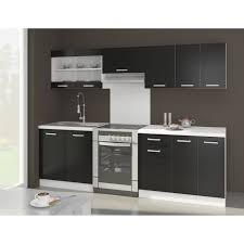 cuisine complete cdiscount ultra cuisine complète avec plan de travail l 2m40 noir mat