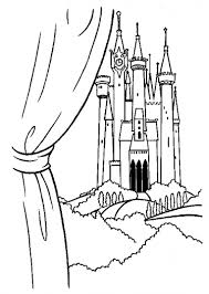 princess cinderella color pages printable prince u0027s castle