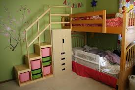 Sleigh Bunk Beds Cheap Bunk Beds With Stairs Pink Theme On Beige Tile Floor Matched