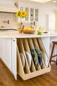 clever storage ideas for small kitchens 12 best platter storage solutions images on kitchen
