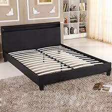 Led Bed Frame Uhom Modern Home Bedroom Bed Frame Contemporary Wood