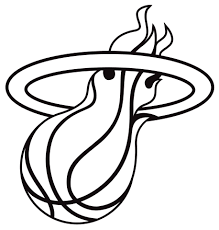 heat coloring pages and miami logo page creativemove me