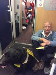 There Was This Blind Man Right Blind Man With A Guide Dog Claims He Was Forced To Sit On The