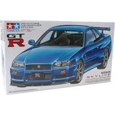nissan skyline r34 paul walker tamiya nissan skyline gt r v spec r34 model kit 1 24 hobbycraft