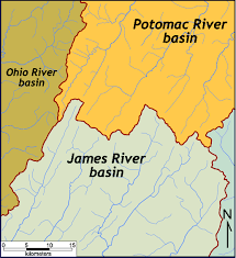 Ohio River Valley Map Trellis Drainage Pattern The Geology Of Virginia