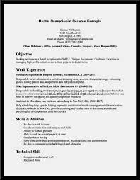 amazing dental receptionist no experience resume u2013 resume template