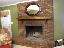 home accecories brown brick fireplace best fireplace 2017 within