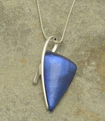 shaped necklace images Blue arrowhead shaped pendant necklace glitterarti jpg