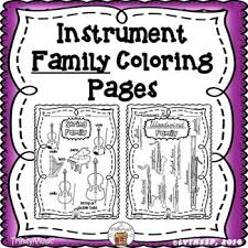 musical instrument instrument families coloring pages by