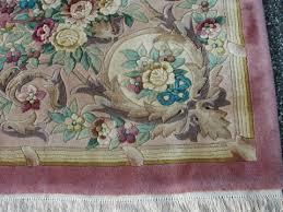 Oriental Rug Liquidators Rra 12x18 Pink Rose Aubusson Rug Carpet Floral 29737