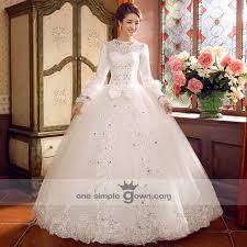 wedding dress malaysia sleeve lace collar gown wedding gown onesimplegown