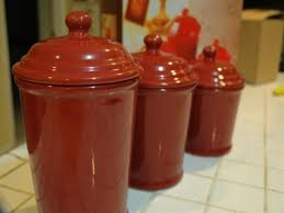 ceramic kitchen canisters southbaynorton interior home red ceramic canisters for the kitchen