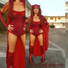 Red Witch Halloween Costume Marvel Scarlett Witch Cosplay Halloween Costume Sabrakadabra