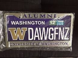 harvard alumni license plate frame of washington alumni license plate frame i am selling