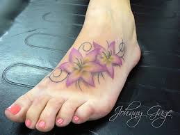 60 lily tattoos on foot with meaning