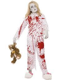 zombie kids blood halloween fancy dress party boys girls
