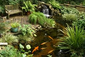 garden beautiful garden fish pond design with waterfall and mini