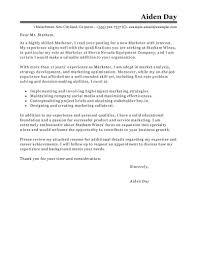Examples Of Cover Letters For Resume by Best Marketing Cover Letter Examples Livecareer
