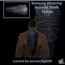 hannya mask samurai tattoo gta san andreas samurai wearing hannya mask tattoo mod gtainside com