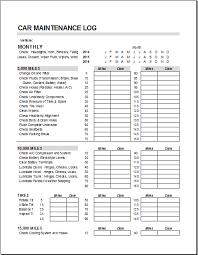 Vehicle Maintenance Sheet Template Vehicle Maintenance Checklist Template