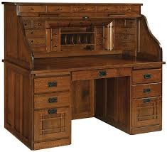 Mission Style Computer Desk With Hutch by Joshuas Craftsman Roll Top Desk Countryside Amish Furniture