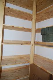 Wood Pantry Shelving by Pantry With Pine Shelves Traditional Kitchen Charlotte
