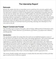 how to write a monthly report template sle internship report 12 documents in pdf