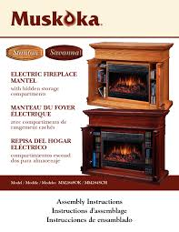 muskoka mm284sok manuals electric fireplace indoor fireplace users guides page 112