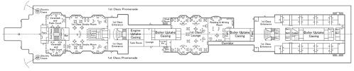 titanic floor plan first class facilities of the rms titanic