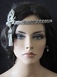great gatsby headband vintage art deco wedding headband art