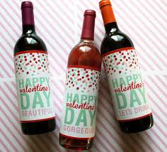printable valentine u0027s day wine labels valentines pinterest