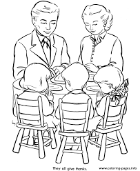 praying before meal educational thanksgiving s0e97 coloring pages