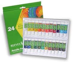 amazon com reeves non toxic acrylic paint set 0 34 oz tube