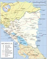 Online World Map by Political Map Of Nicaragua Nations Online Project