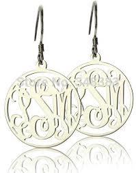 Name Hoop Earrings Imeety Fashion Jewellery Silver Name Pendant Earrings Circle