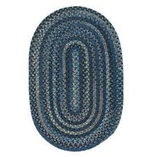 Braided Throw Rugs Braided Blue Area Rugs Rugs The Home Depot