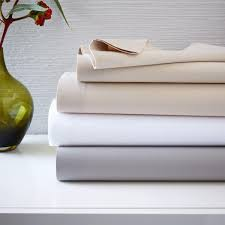 400 thread count organic cotton percale sheet set west elm au