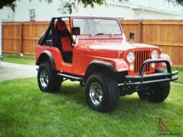 red jeep 2 door jeep cj5 base sport utility 2 door 5 7l