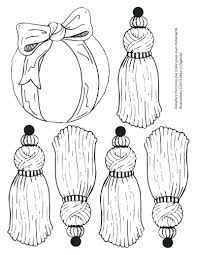 free coloring pages tree ornaments