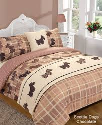Chocolate Bed Linen - duvet cover with pillow case quilt bedding set bed in a bag double